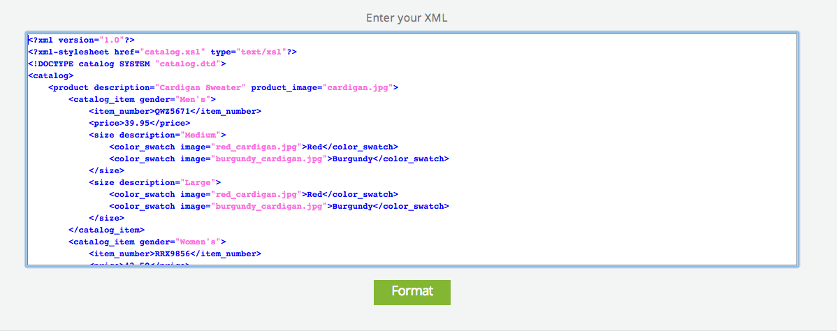 XML Formatter For Enhanced Content Visibility