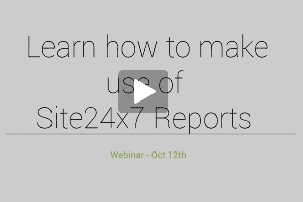 Site24x7 Reports