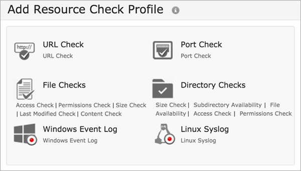 Resource Check Profiling