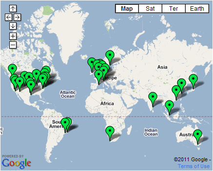 Site24x7 Global Monitoring Locations